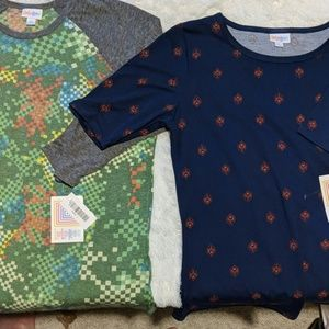 2 Large LulaRoe shirts 1 Randy 1 Gigi